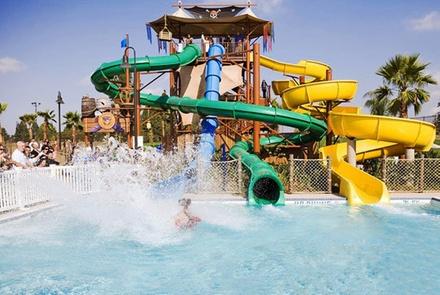 $19 for a Splash! Buccaneer Bay Waterpark Visit for Two ($37.90 Value)