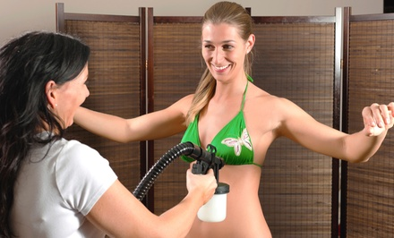 One or Three Full-Body Airbrush Tans at Glo Face & Body (Up to 53% Off)