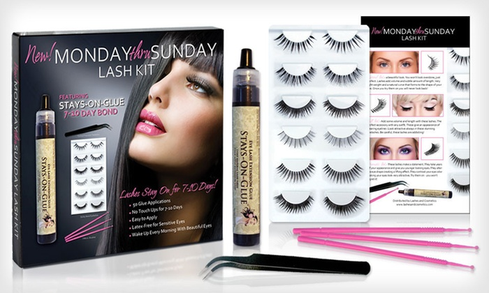 Lashes & Cosmetics Lash-Extensions Kit: $19.99 for a Lashes & Cosmetics Monday Thru Sunday Lash-Extension Kit ($95.99 List Price). Free Shipping.