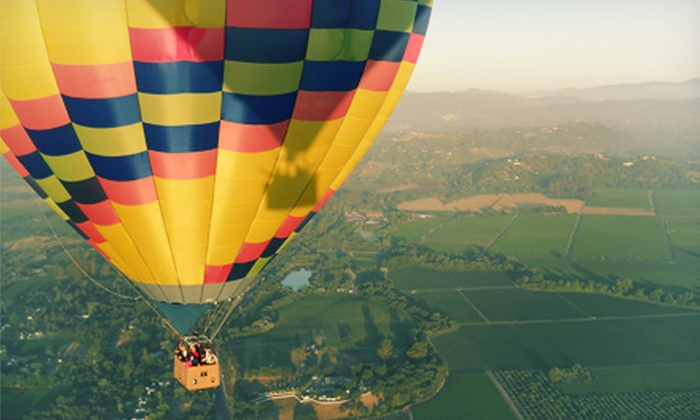 Up & Away Ballooning - Sonoma County Airport: $175 for a Hot-Air Balloon Ride at Sunrise with Champagne Brunch from Up & Away Ballooning (Up to $235 Value)