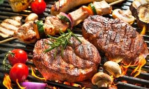 Rivas Bar: Menú para dos personas con entrante, parrillada de carne, postre y botella de vino o bebida por 24,95 € en Rivas Bar