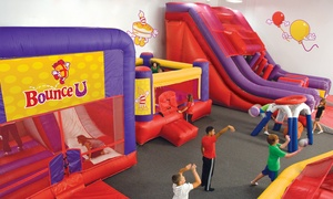 Bounce U: Open-Bounce Sessions or Day Camp at Bounce U (Up to 44% Off). Three Options Available.
