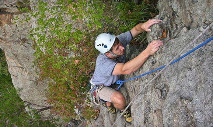 Rocky Top Guides - Rock City Starbucks: Full- or Half-Day Guided Outdoor-Rock-Climbing Outing at Lookout Mountain from Rocky Top Guides (Up to 78% Off)