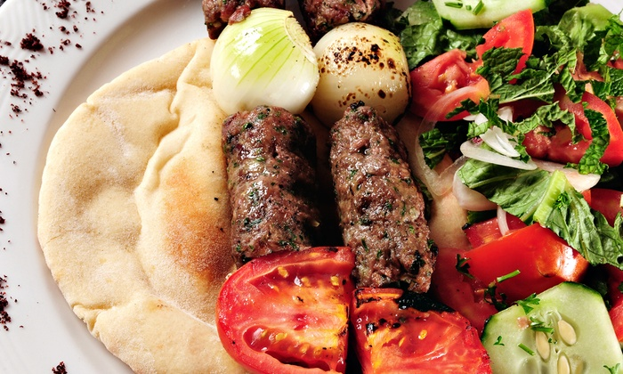 Pasha Taverna & Lounge - Millenia: Three-Course Moroccan and Mediterranean Dinner with Wine for 2 or 4 at Pasha Taverna & Lounge (Up to 48% Off)