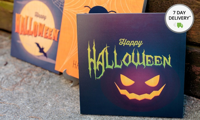 """Happy Halloween Signs on Wood: 12""""x12"""" Happy Halloween Signs on Wood. Multiple Designs Available. Free Shipping and Returns."""