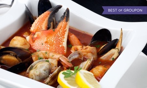 Sergio's Steak and Seafood: $79 for a Crab Cioppino Dinner for Two with Wine at Sergio's Steak and Seafood (Up to $128.80 Value)