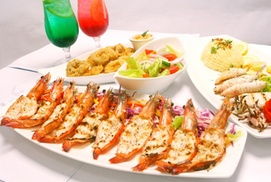 Motafish Restaurant: Prawn and Calamari Platter with Coolers and Sides For Two, Four or Six at Motafish Restaurant (54% Off)