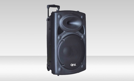 QFX Bluetooth Tailgate Speaker on Wheels with 8