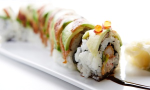 Akasaka Japanese Restaurant & Lounge: Sushi at Akasaka Japanese Restaurant & Lounge (37% Off)
