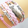 Breast Cancer Support and Awareness Multi-Strand Bracelet