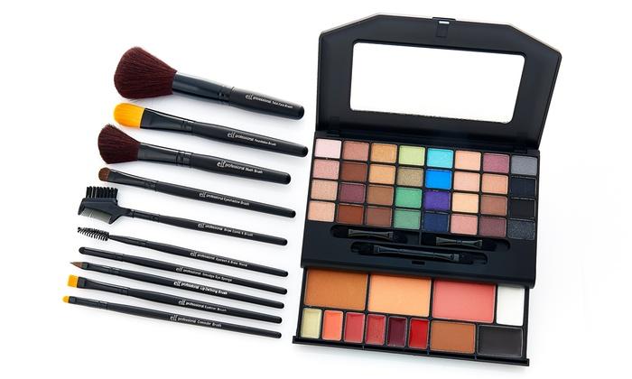 elf Cosmetics Beauty Clutch and 10-Piece Brush Set: elf Cosmetics ...