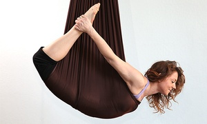 The Yoga Studio: 5 Aerial Yoga Classes or 10 Non-Aerial Yoga Classes at The Yoga Studio (Up to 74% Off)