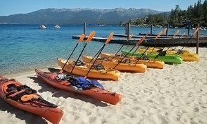Tahoe City Kayak: Three-Hour Kayak Rental, Tandem Kayak Rental, or SUP Rental for One or Two from Tahoe City Kayak (Up to 51% Off)