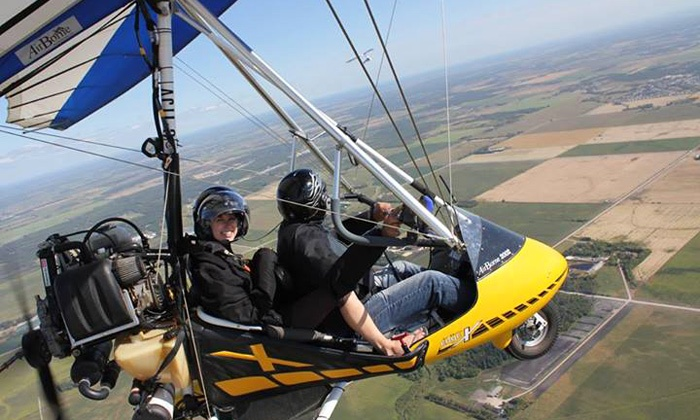 Adventure At Altitude - Steinbach Municipal Airport: Tandem Ultralight Hang-Glider SkyRide for One or Two from Adventure At Altitude (Up to 54% Off)