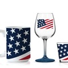 American Flag Shot Glass, Pint Glass, Wineglass, or Mug Set