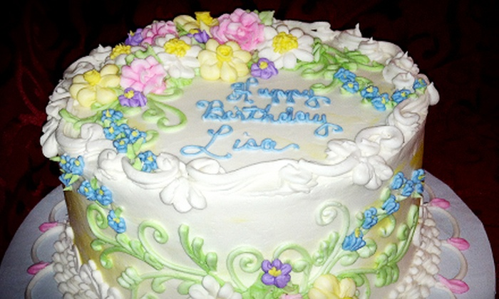 The Little Cake Shop - Daphne: 8- or 10-Inch Cake with Frosting Decorations at The Little Cake Shop (51% Off)