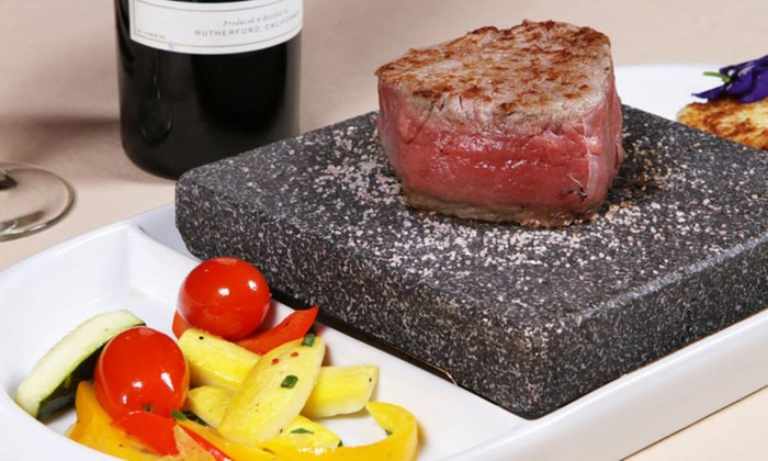 Hot Stone Grill - Cornelius: New American Dinner Cuisine at Hot Stone Grill (Up to 43% Off). Two Options Available.