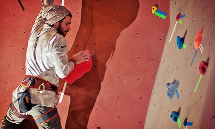 Vertical Rock Indoor Climbing and Fitness Center - Manassas: Two One-Day Visits with Gear or an Intro Climbing Package at Vertical Rock Indoor Climbing and Fitness Center (52% Off)