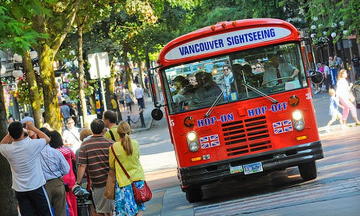 Big Bus - Downtown Vancouver: One-Day Unlimited Hop-On, Hop-Off City Bus Tour for One, Two, or Four from Big Bus (Up to 53% Off)