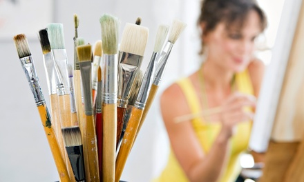BYOB Painting Class for 1, 2, or 4, or Private Painting Party for Up to 10 People (Up to 64% Off)
