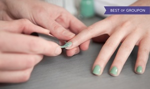 Majestic Nails & Spa: Gel Manicure with Optional Exfoliating Pedicure at Majestic Nails & Spa (Up to 30% Off)