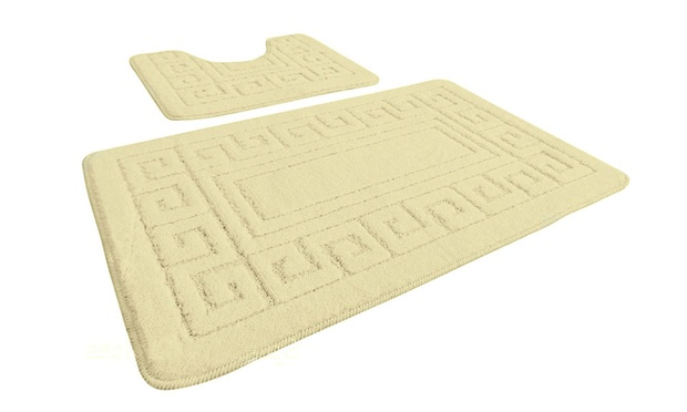 Greek Key Bath Mat Set Groupon Goods