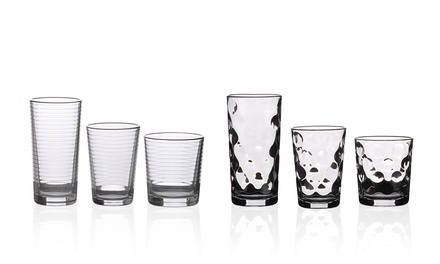 18-Piece Glassware Set in Choice of Style from £9.98 (75% Off)