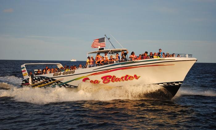 "Sea Blaster - Destin: 1.5-Hour Dolphin-Viewing Cruise or 3-Hour Dolphin-Viewing and Snorkeling Cruise from ""Sea Blaster"" (50% Off)"