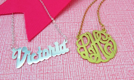 Gold-Plated or Sterling-Silver Custom Necklaces from NameJewelrySpot (Up to 73% Off). Two Options Available.