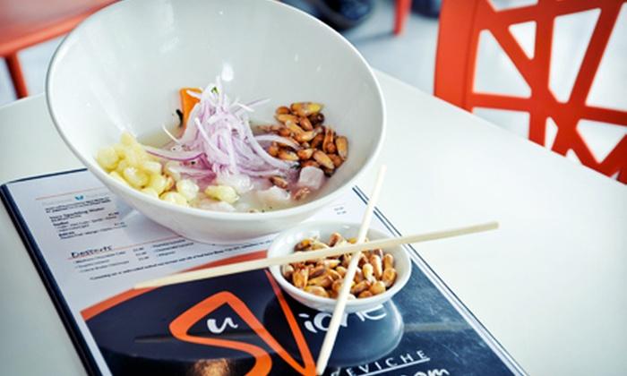 SuViche Miami Beach - Flamingo / Lummus: Japanese-Peruvian Fusion Cuisine at SuViche Miami Beach (Up to 47% Off). Two Options Available.