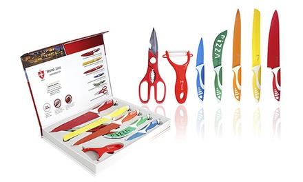 Conjunto de facas de cozinha, tesoura e pelador Hippo Line por 24,99€