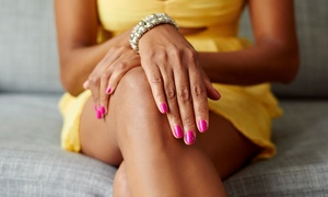 NailScape Nail Bar & Spa/Drea Hearts Nails: One Spa or Shellac Mani-Pedi at NailScape Nail Bar & Spa/Drea Hearts Nails (Up to 44% Off)