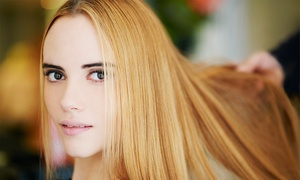 Blu Nuvo: Cut and Blow-Dry with Optional Colour at Blu Nuvo (Up to 68% Off)
