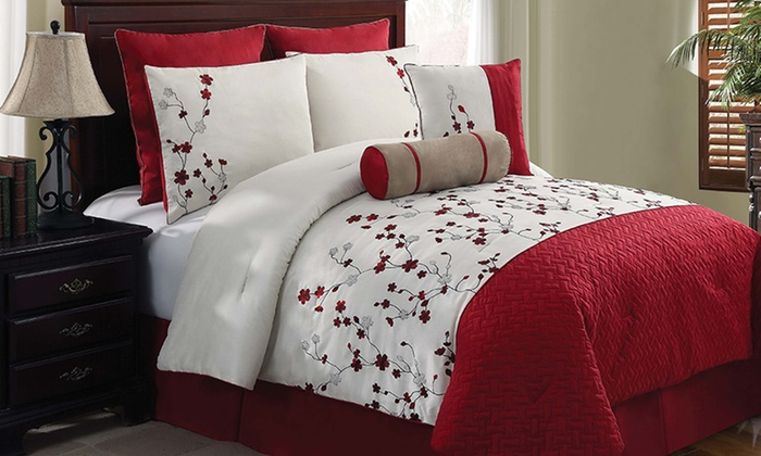 Embroidered 8-Piece Comforter Set: Embroidered 8-Piece Comforter Set. Multiple Sizes from $79.99–$89.99. Free Returns.