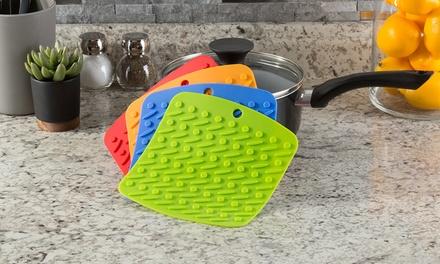 Silicone Pot Holder Set by Lavish Home (4-Piece)