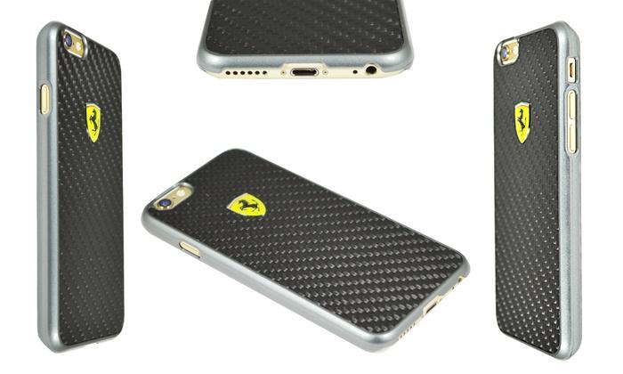 separation shoes 7e42c 998f9 Ferrari Carbon Fiber Hard Case for Apple iPhone 6 with 4.7
