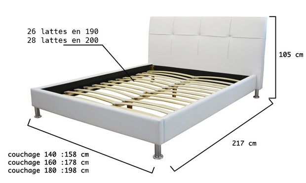 matelas m moire de forme et sommier lattes 180 x 200 cm. Black Bedroom Furniture Sets. Home Design Ideas
