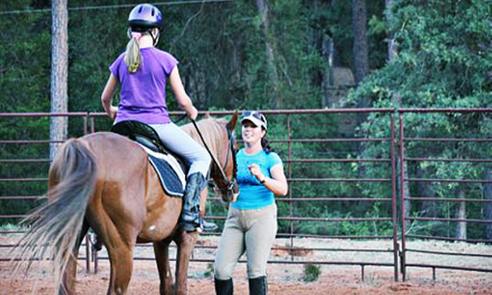 Inspired Riding - Smithville: One 90-Minute Horseback-Riding Lesson or Three One-Hour Private Lessons at Inspired Riding (Up to 54% Off)