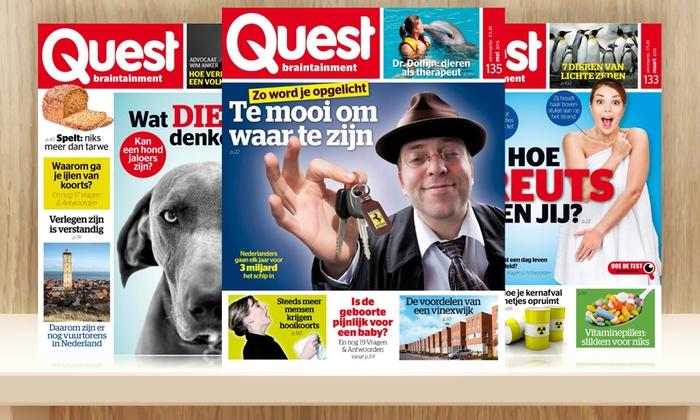 abonnement quest magazine quest groupon