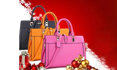 MMK Collection Women's Vegan Leather Handbag 07ac27d8-b2b6-460c-9e55-b0756c871507