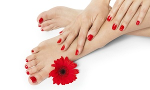 Hands Tanned: Shellac Manicure, Pedicure or Both at Hands Tanned (Up to 68% Off)