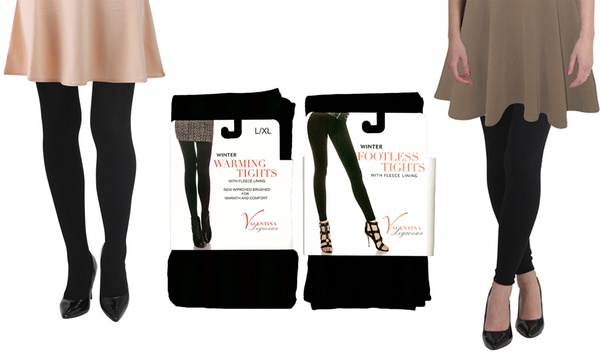 Two Pack Of Women S Thermal Full Length Or Footless Tights