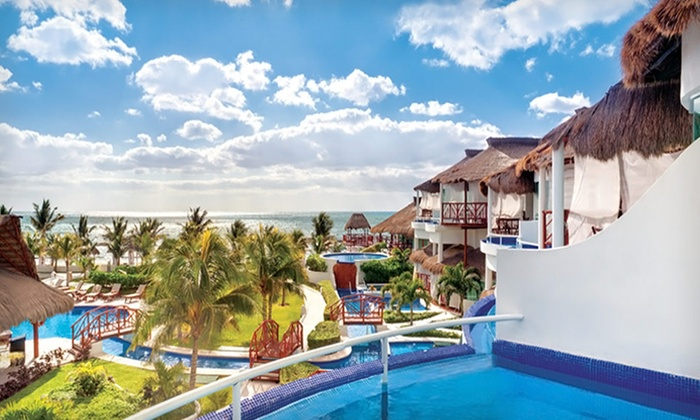 Gourmet All-Inclusive Mexico Vacation at AAA Four Diamond-rated Resort with Airfare: Five-Night Riviera Maya Vacation with Airfare and All-Inclusive Stay at El Dorado Casitas Royale from Travel By Jen