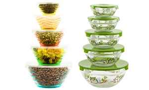 Glass Storage And Mixing Bowl Set (10-piece)