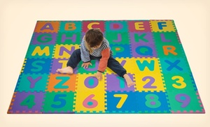 96 Piece Foam Alphabet And Number Puzzle Floor Mat For Kids