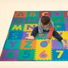 Foam Alphabet-and-Number Puzzle Floor Mat for Kids (96-Piece)