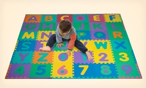 96-Piece Foam Alphabet-and-Number Puzzle Floor Mat for Kids