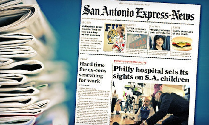 "<i>San Antonio Express-News</i>: 52 or 26 Weeks of Sunday Home Delivery from ""San Antonio Express-News"" (56% Off)"