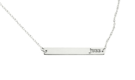 Personalized Name Bar Necklace from Monogram Online