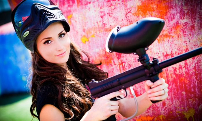 Paintball International - Paintball Explosion: All-Day Paintball with Equipment Rentals for Up to 4, 6, or 12 from Paintball International (Up to 80% Off)